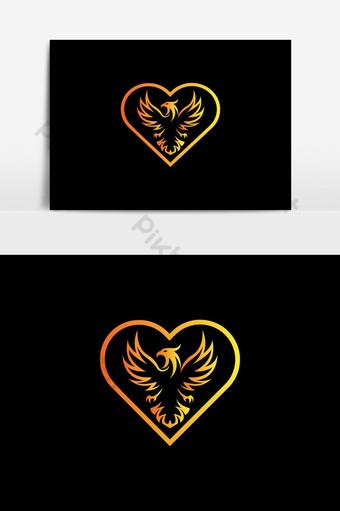 vector de diseño de logotipo de pájaro de amor Elementos graficos Modelo EPS