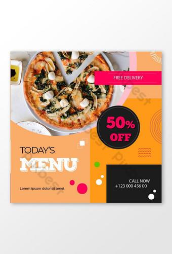 menu du jour jusqu'à 50 off offre post Instagram Modèle AI