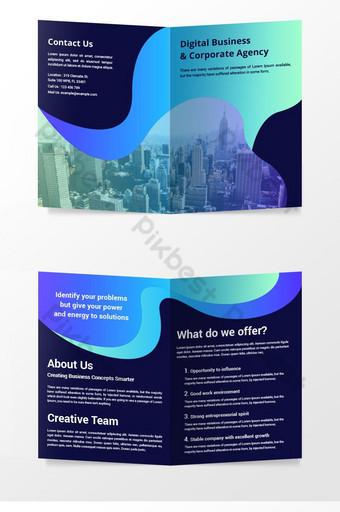 Modèle de vecteur de page de couverture de magazine de conception de brochure d'entreprise Modèle AI