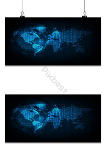 矢量世界地圖以數字格式 背景 模板 EPS