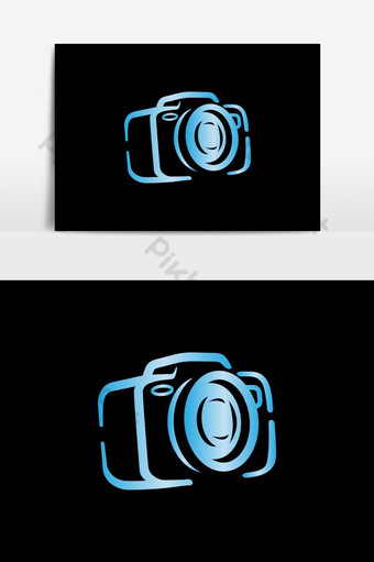 vector de símbolo de diseño de logotipo de cámara colorida creativa Elementos graficos Modelo EPS