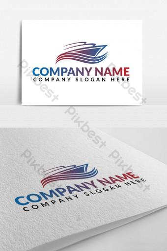 sea tour travel ship logo design Template EPS