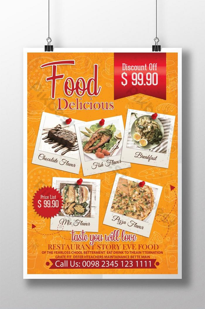 Vintage Delicious Food Restaurant Poster Template Psd Free Download Pikbest