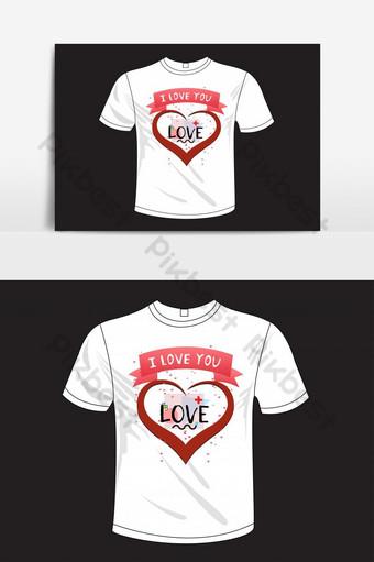 feliz día del amor de san valentín plantilla de diseño de camiseta basada en texto ai Elementos graficos Modelo EPS