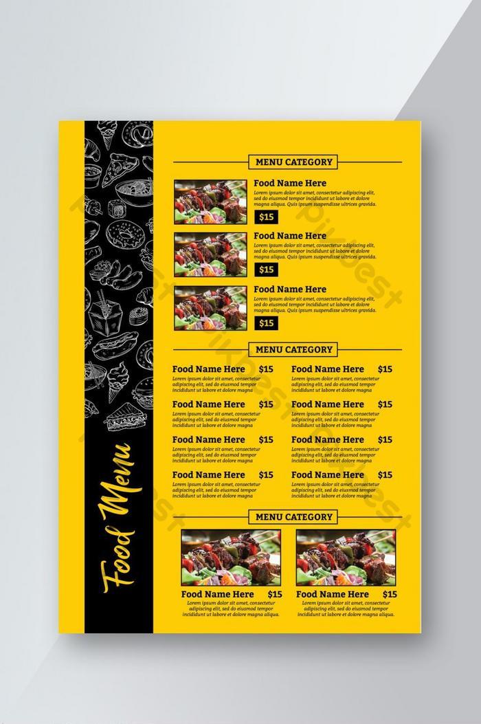 food menu book flyer