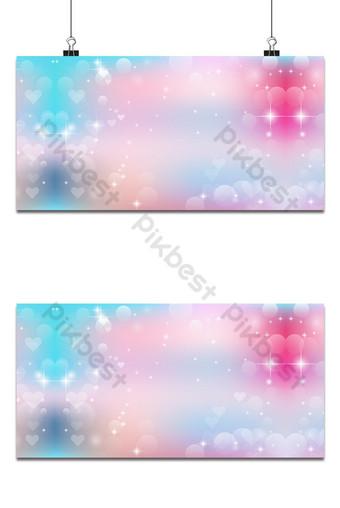 خلفية ضبابية باللون الوردي والأزرق مع خوخه على شكل قلب ليوم عيد الحب خلفيات قالب AI
