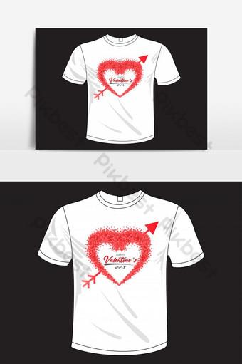 feliz día de san valentín plantilla de elementos de diseño de camiseta basada en texto ai Elementos graficos Modelo EPS
