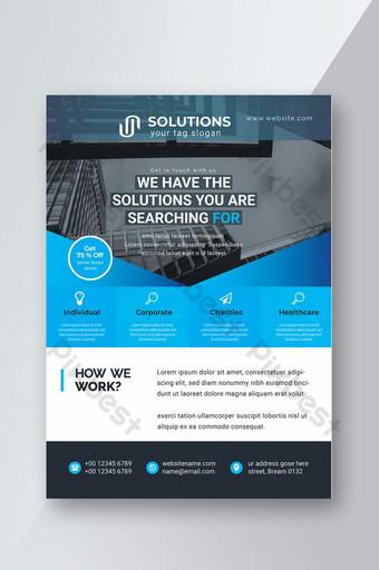 Corporate Business Flyer Template vert Aperçu de l'image pikbest Modèle AI
