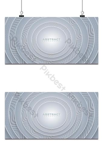 abstrak latar belakang lingkaran putih 3d dengan segi enam bertekstur dengan pola bergelombang Latar belakang Templat AI