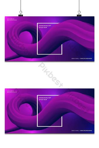 Conception de fond abstrait de forme de ligne de style affiche minimale Fond Modèle PSD