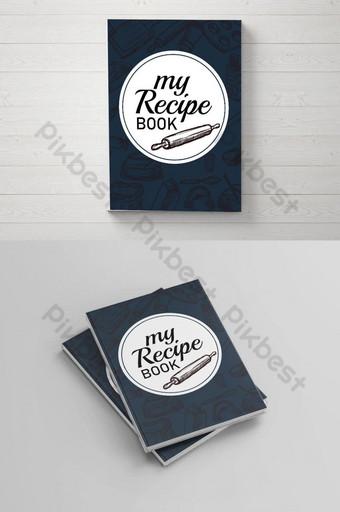 mi libro de recetas diseño de portada descarga gratuita diseño de anuncios de restaurante diseño de libro gratis Modelo PSD