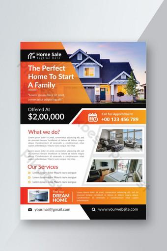 Modèle de Flyer de maison de vente immobilier Modèle AI