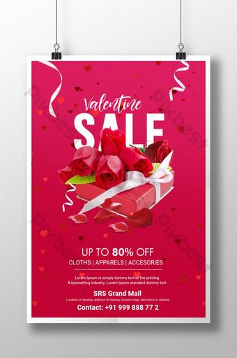 plantilla de venta de san valentín tema rosa fresco psd Modelo PSD