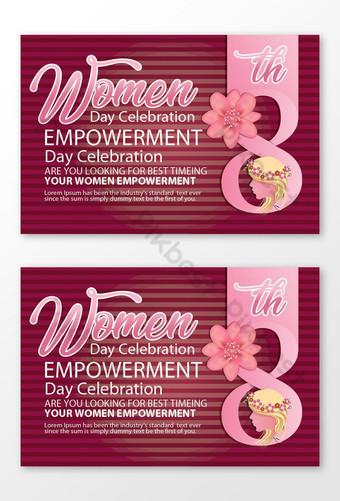 diseños de tarjetas florales para el día de la mujer Modelo PSD