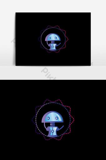 diseño de vector de logotipo de robot colorido creativo Elementos graficos Modelo EPS