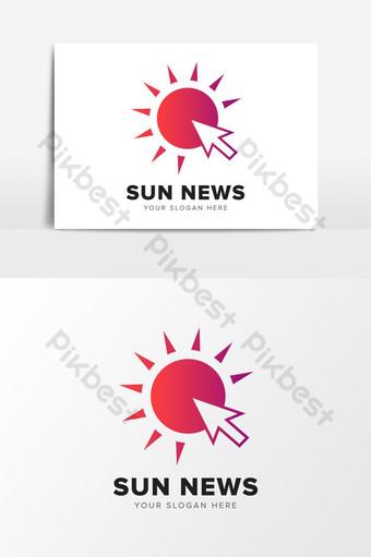 resumen en línea sun first news company logo design elementos gráficos plantilla ai Elementos graficos Modelo AI