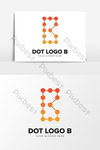 letra b punteado tecnología logo diseño elementos gráficos plantilla ai Elementos graficos Modelo AI