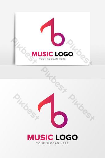 Letra b plantilla de elementos gráficos de diseño de logotipo de empresa de música abstracta inicial ai Elementos graficos Modelo AI