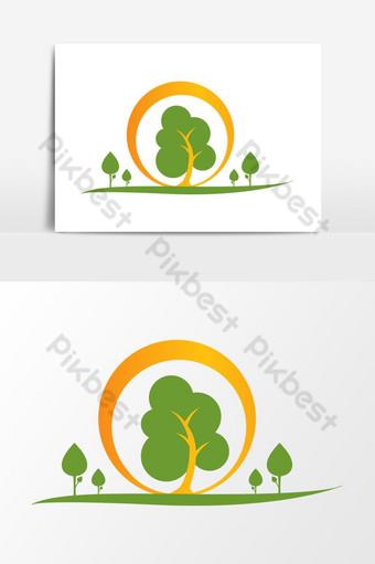 Letra o plantilla de elementos gráficos de diseño de logotipo de empresa de árbol abstracto inicial ai Elementos graficos Modelo AI