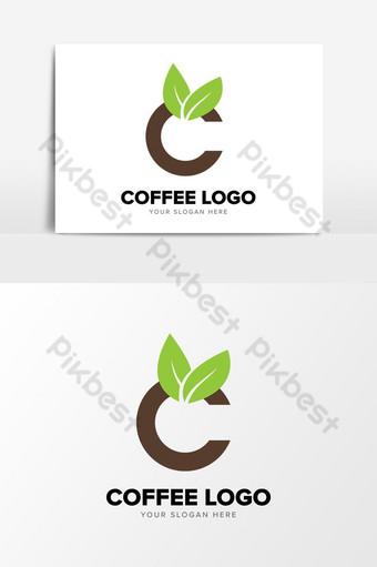 plantilla de elementos gráficos de diseño de logotipo simple de empresa de café natural ai Elementos graficos Modelo AI