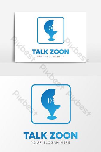simple charla zoon empresa logo diseño elementos gráficos plantilla ai Elementos graficos Modelo AI
