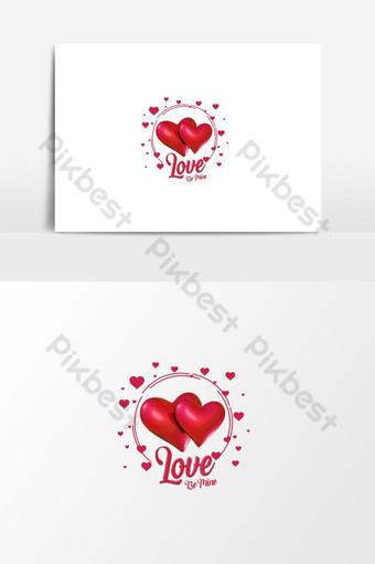 Cinta hati valentine menjadi milikku png teks Elemen Grafis Templat PSD