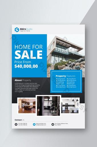 Modèle de flyer immobilier créatif et professionnel Vecteur Premium Modèle EPS