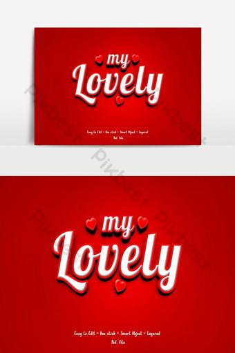 corazón amor vector tarjetas de san valentín símbolo de rojo pareja encantadora romántica Elementos graficos Modelo PSD
