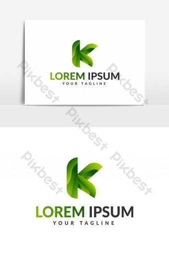 logo de letra k logo de letra k Elementos graficos Modelo EPS