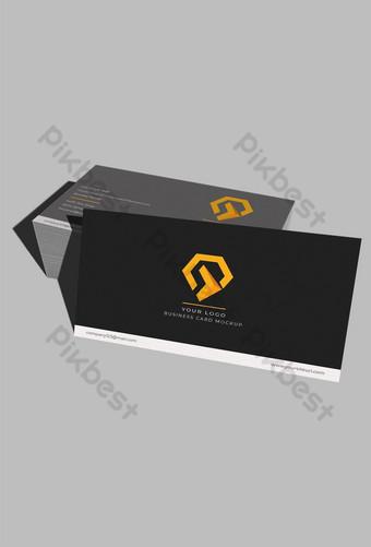 عرض الزاوية الأمامية لبطاقة العمل الحديثة بالحجم الطبيعي قالب PSD