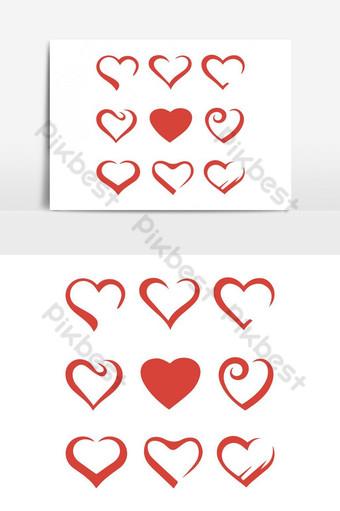 elemento de gráficos vectoriales de icono de amor de san valentín Elementos graficos Modelo AI