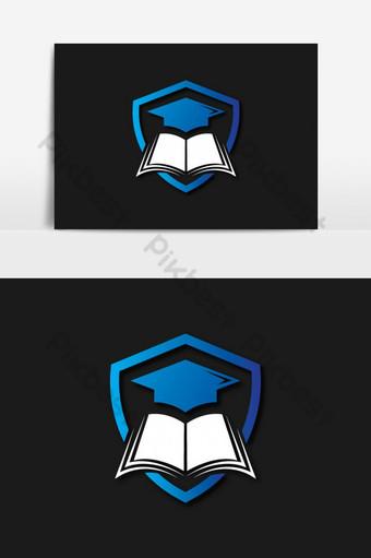 nuevo logo de vector de educación Elementos graficos Modelo PSD