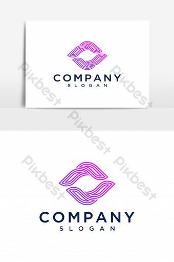 letra ff logo icono diseño elementos de plantilla letra f vector de diseño de logotipo Elementos graficos Modelo AI