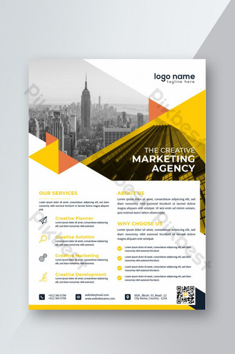 Conception de mise en page d'affiche de flyer d'entreprise créative Modèle AI