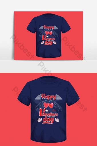 simple feliz día de san valentín diseño de camiseta basado en texto elementos gráficos vectoriales ai Elementos graficos Modelo EPS