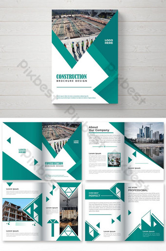 Diseño de folleto comercial de 8 páginas. Modelo EPS
