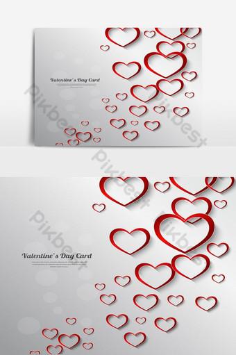 día de san valentín hermoso fondo en forma de corazón banner elemento gráfico Elementos graficos Modelo AI