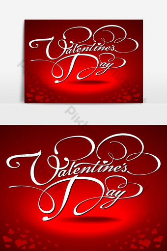 día de san valentín hermoso fondo en forma de corazón banner elemento gráfico Elementos graficos Modelo EPS