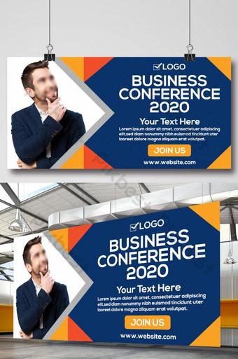 conferencia de negocios 2020 plantilla de diseño de banner de señalización de vallas publicitarias corporativas Modelo PSD