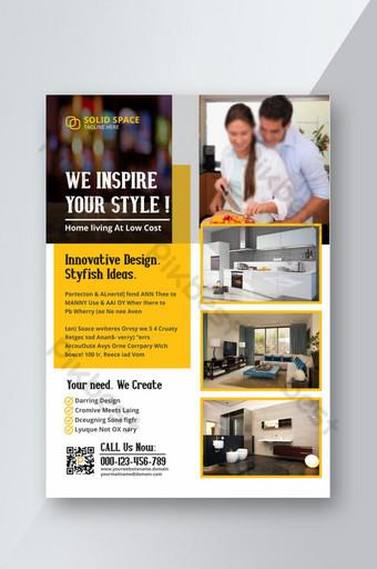 Modèle de Flyer d'idées de conception innovante Styfish Modèle PSD