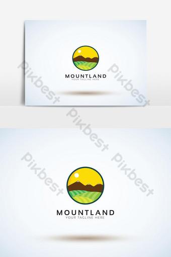 plantilla de logotipo de montaña para camping vector ilustrador eps 10 Elementos graficos Modelo AI