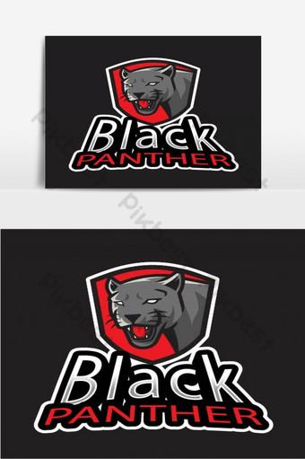 vector de plantilla de logotipo de tigre pantera negra Elementos graficos Modelo AI
