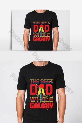 Meilleur design de t-shirt papa Téléchargement gratuit Design de t-shirt papa Téléchargement gratuit Éléments graphiques Modèle AI