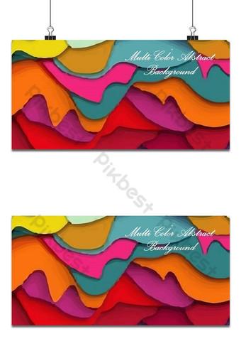 Fondo abstracto multicolor con archivo vectorial gratuito Fondos Modelo AI