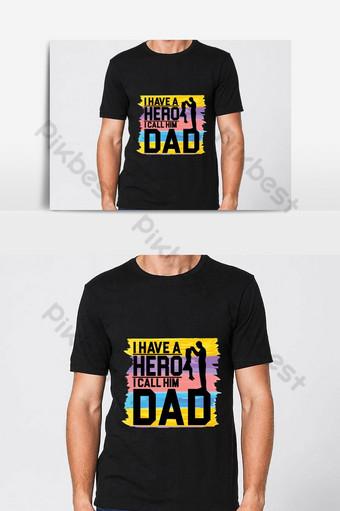 Meilleur Papa T-shirt Design Papa T-shirt Design T-shirt Cadeau Pour Papa Téléchargement Gratuit Éléments graphiques Modèle AI