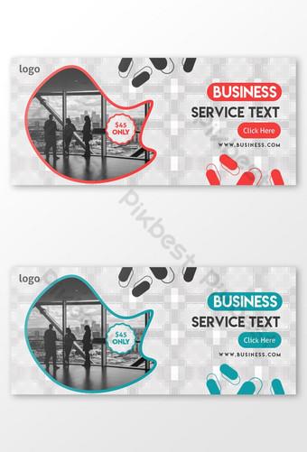 Business Service Facebook Cover Template PSD