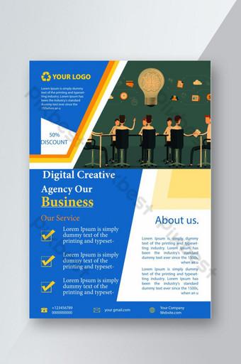 Corporate Digital Creative Agency Our Business Flyer Design Modèle PSD
