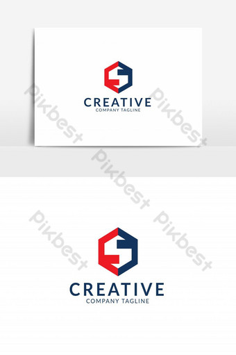 plantilla de diseño de logotipo de letra s única Elementos graficos Modelo AI