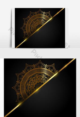 تصاميم ماندالا اسلامية فاخرة بنمط عربي صور PNG قالب AI