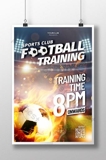 pôster de treinamento de futebol de clube esportivo Modelo PSD